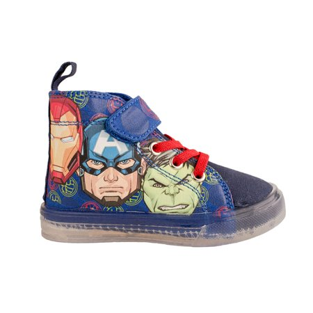 Marvel Avengers Lighted Canvas High Top Sneakers (Toddler Boys)