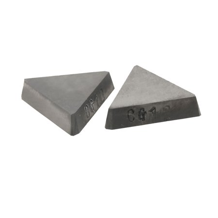 Unique Bargains Unique Bargains 2 Pcs Welding Blade Tungsten Cemented Carbide Inserts for Turning Lathe