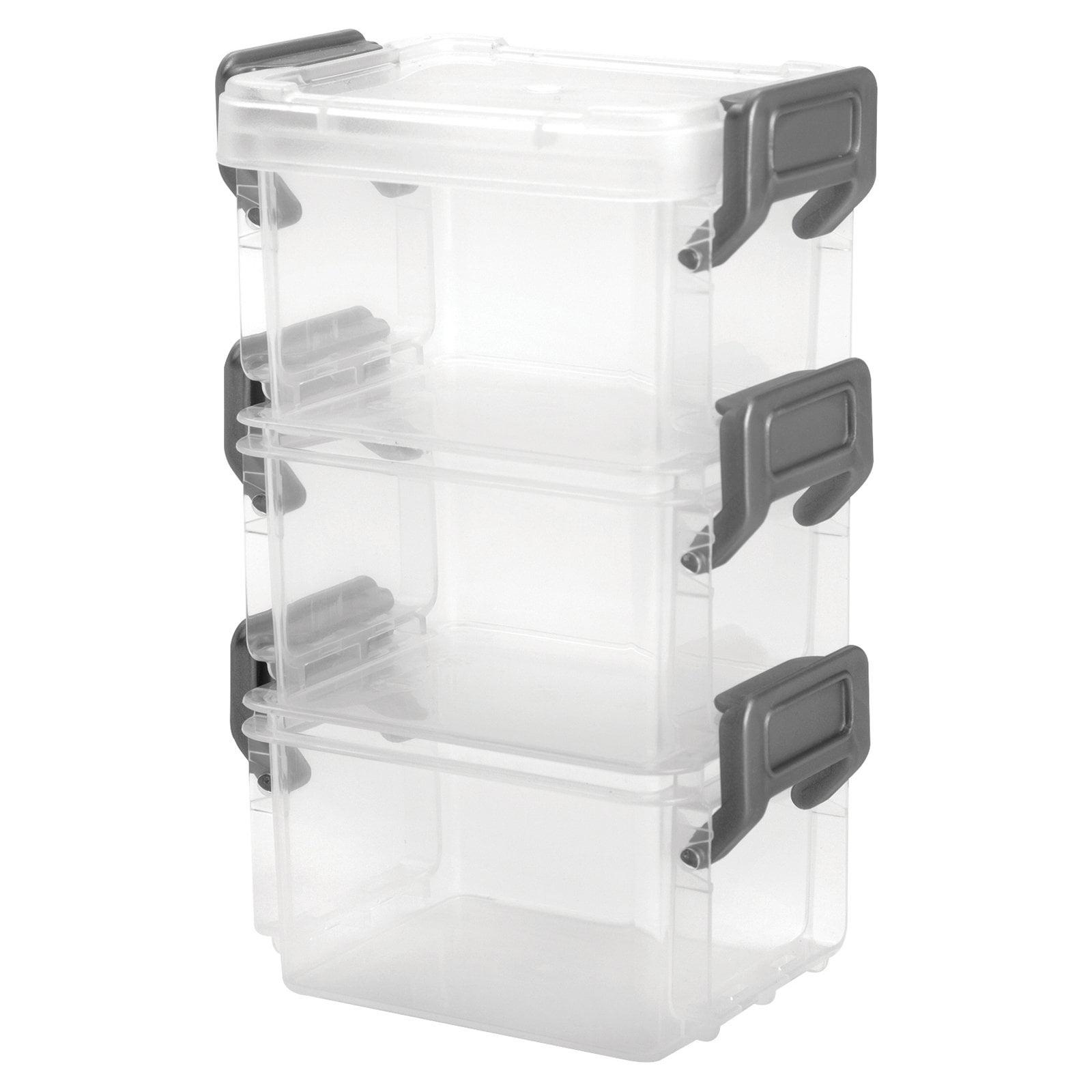 IRIS Layered Latch Box, Clear