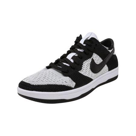 28da12e757859 Nike Men s Dunk Flyknit University Red   White-Wolf Grey Ankle-High  Basketball Shoe ...