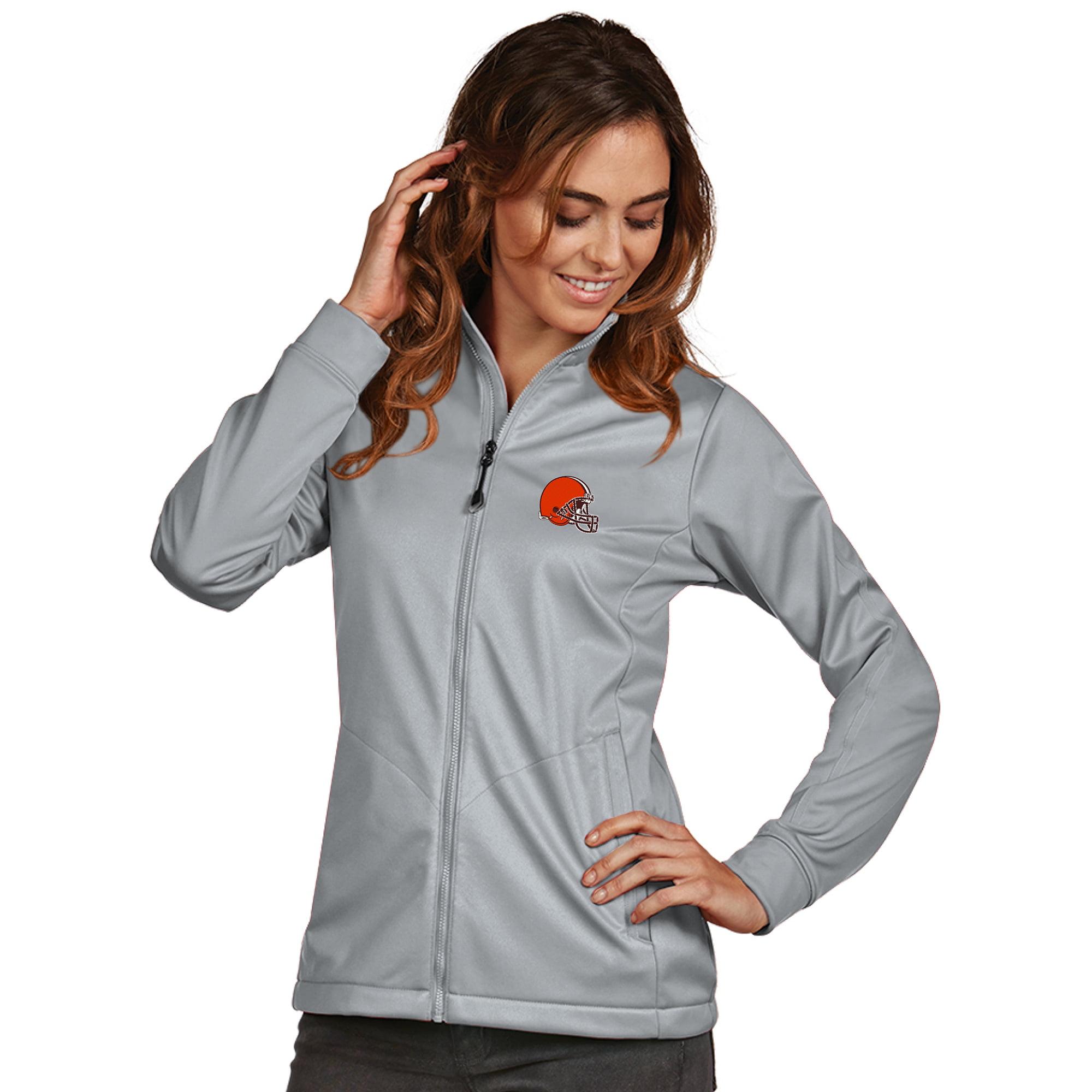 Cleveland Browns Women's Antigua Full-Zip Golf Jacket - Gray