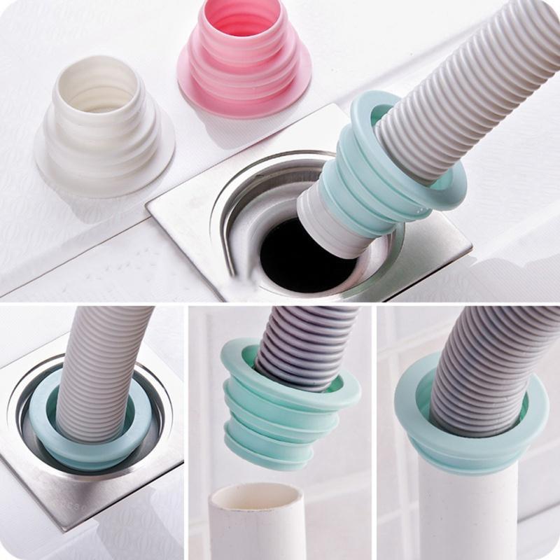 Silicone Deodorant Core Sewer Pipe Seal Ring Bathroom Washing Tool Machine X6K9