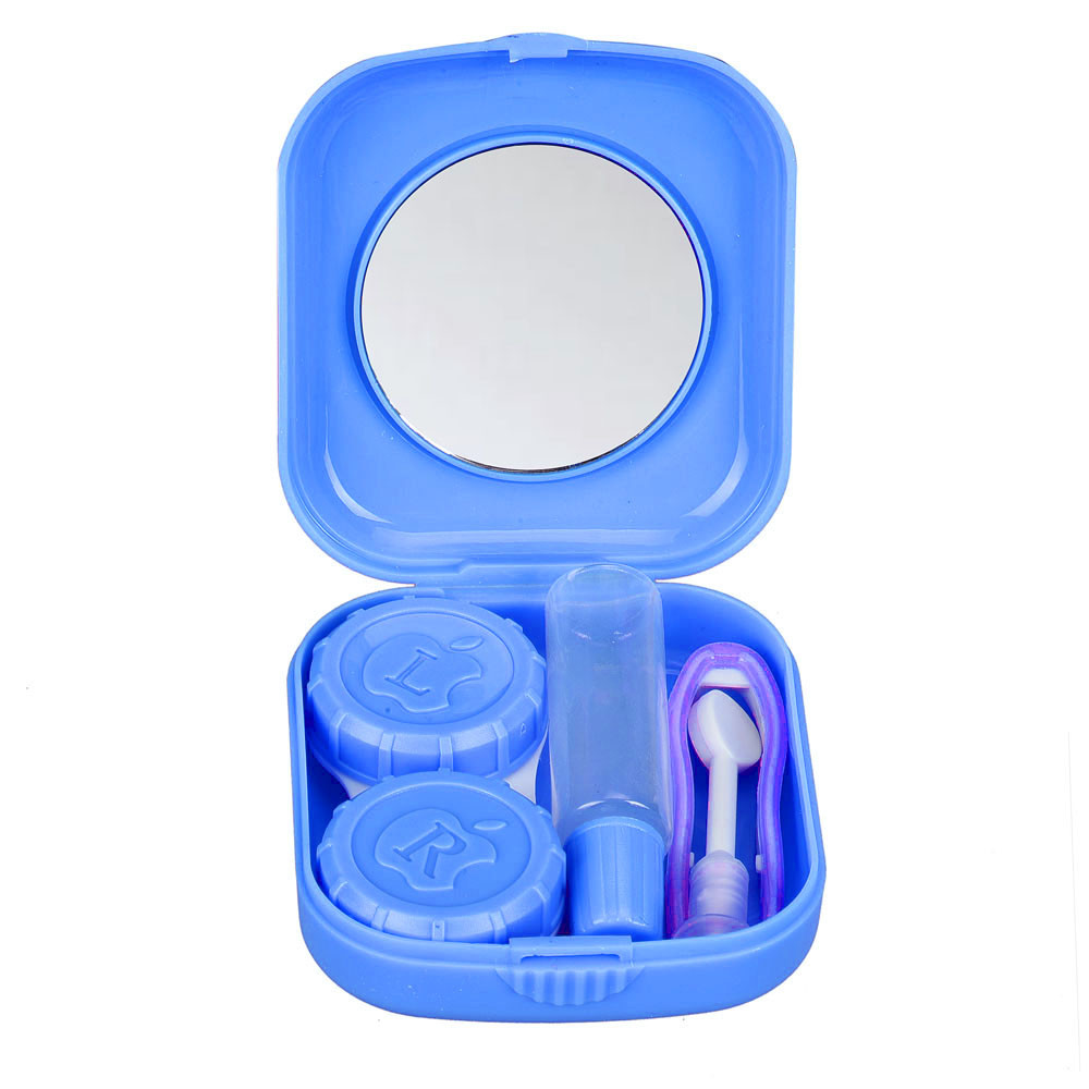 New Cute Mini Contact Lens Easy Carry Case Travel Kit BU