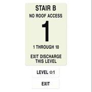 INTERSIGN NFPA-PVC1812-X(B1N10) NFPASgn,StairIdB,FlrLvl1,FlrsSrvd1 to 10