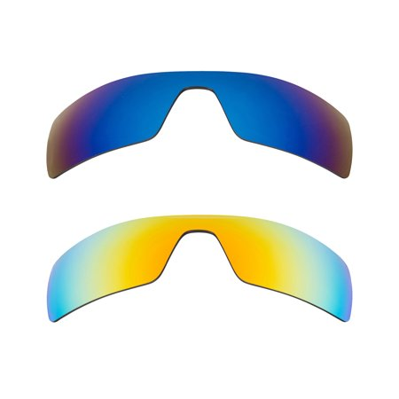 Oil Rig Replacement Lenses Blue & Yellow by SEEK fits OAKLEY Sunglasses