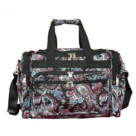 30138c3e0ad6 World Traveler Paisley 16-Inch Lightweight Carry-On Duffle Bag