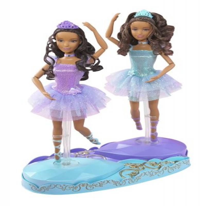 Barbie in the 12 Dancing Princesses Princess Isla and Princess Hadley Dolls African American by Mattel