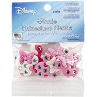 Dress It Up Disney Minnie Rhinestone Head Buttons, 5 Piece
