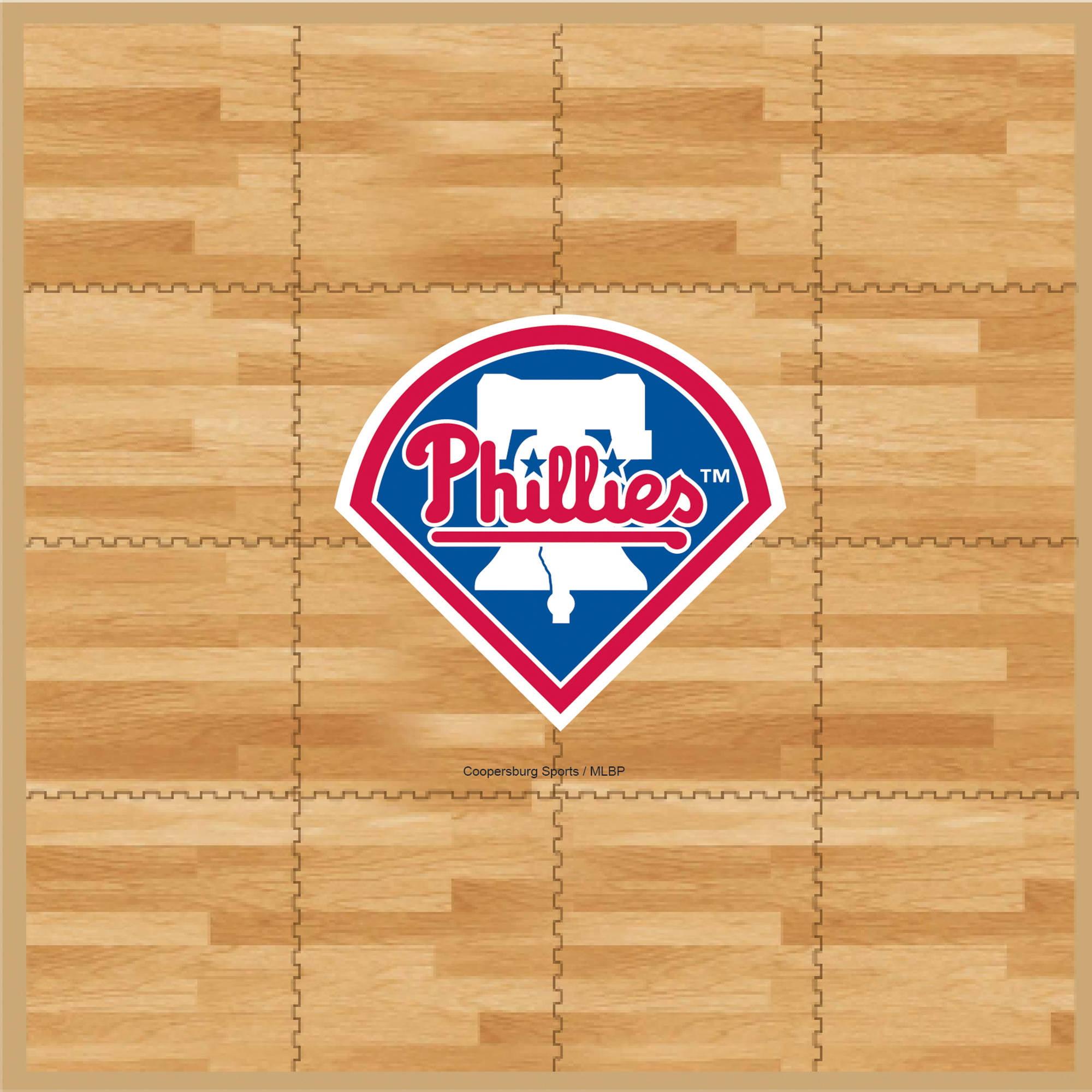 MLB Philadelphia Phillies Portable Foam Puzzle Tailgate Floor Mat by Coopersburg Sports