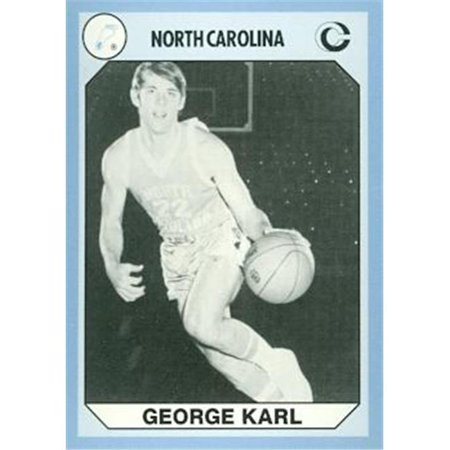 George Karl Basketball Card  North Carolina  1990 Collegiate Collection No  175