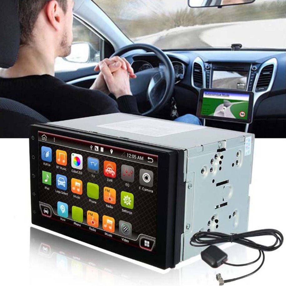 Car Gps Device 7-Inch Display Double 2 Din Car Navigator Satellite Navigation For Android 6.0