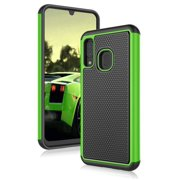 Galaxy A10E Case, Case for Samsung A10E 2019, Njjex Shock Absorbing Dual Layer Silicone & Plastic Bumper Rugged Grip Hard Protective Cases Cover For Samsung Galaxy A10E (2019)