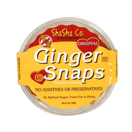Shasha Bread Original Ginger Snap Cookies - Pack of 16 - 12 Oz