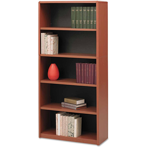 Safco Value Mate Series Metal Bookcase, Cherry