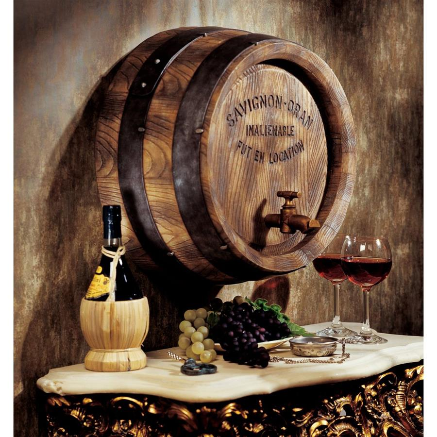 French Wine Barrel Wall Sculpture by Design Toscano