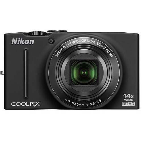 "Nikon COOLPIX S8200 Black 16.1MP Digital Camera w/ 14x Optical Zoom Lens, 3"" LCD Display, HD Video, Image Stabilization"