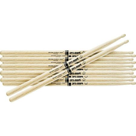 Promark 6-Pair Japanese White Oak Drumsticks Wood 2B (Oak 2b Wood)