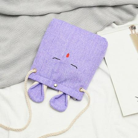 Fashion Linen Cloth Rabbit Style Women Bag Elegant Ladies Single Shoulder Bag - image 4 of 7