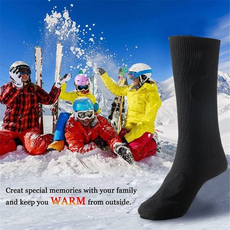 Electric Battery Heated Socks Feet Warmer Heater Ice Fishing Foot Shoe Boot Warm, 1 (Best Shoes For Surf Fishing)