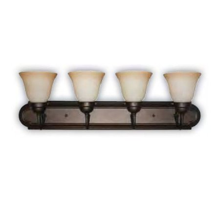 Stained Glass Vanity Light Fixtures : Sunlite 4 Lamp 30 in Dusted Brown Vanity Sconce Fixture Tea Stained Glass - Walmart.com