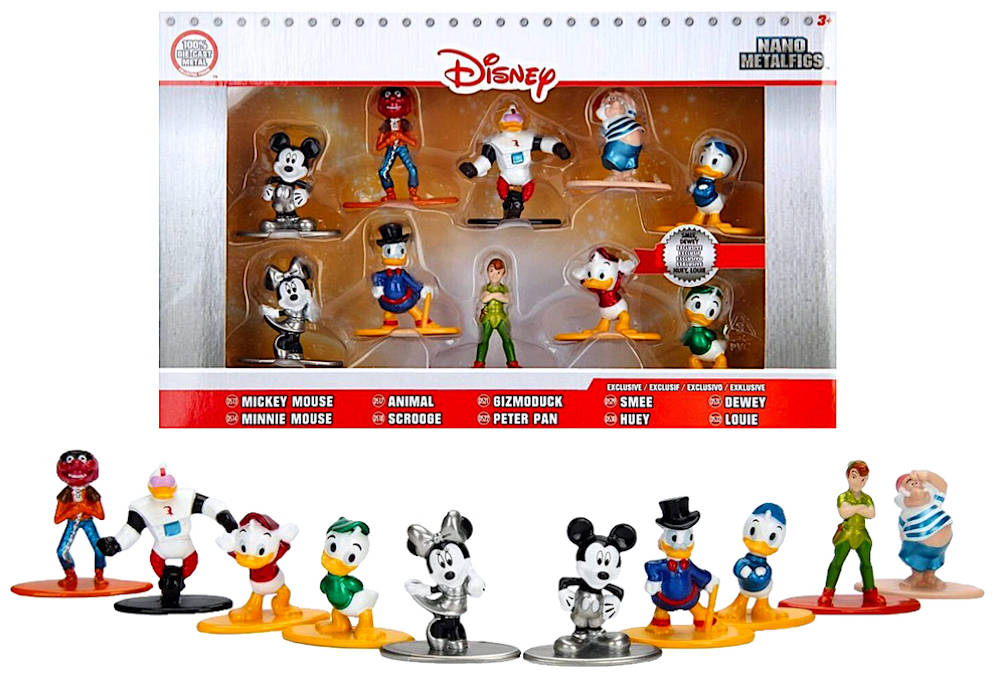 DISNEY Cartoon Characters Nano Metalfigs Die-Cast Miniature Toys Cake Topper NEW