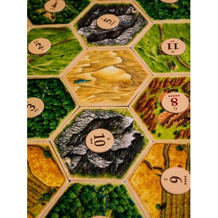 Laminated Poster Game Board Game Settlers Of Catan Pieces Table Poster Print 24 x 36