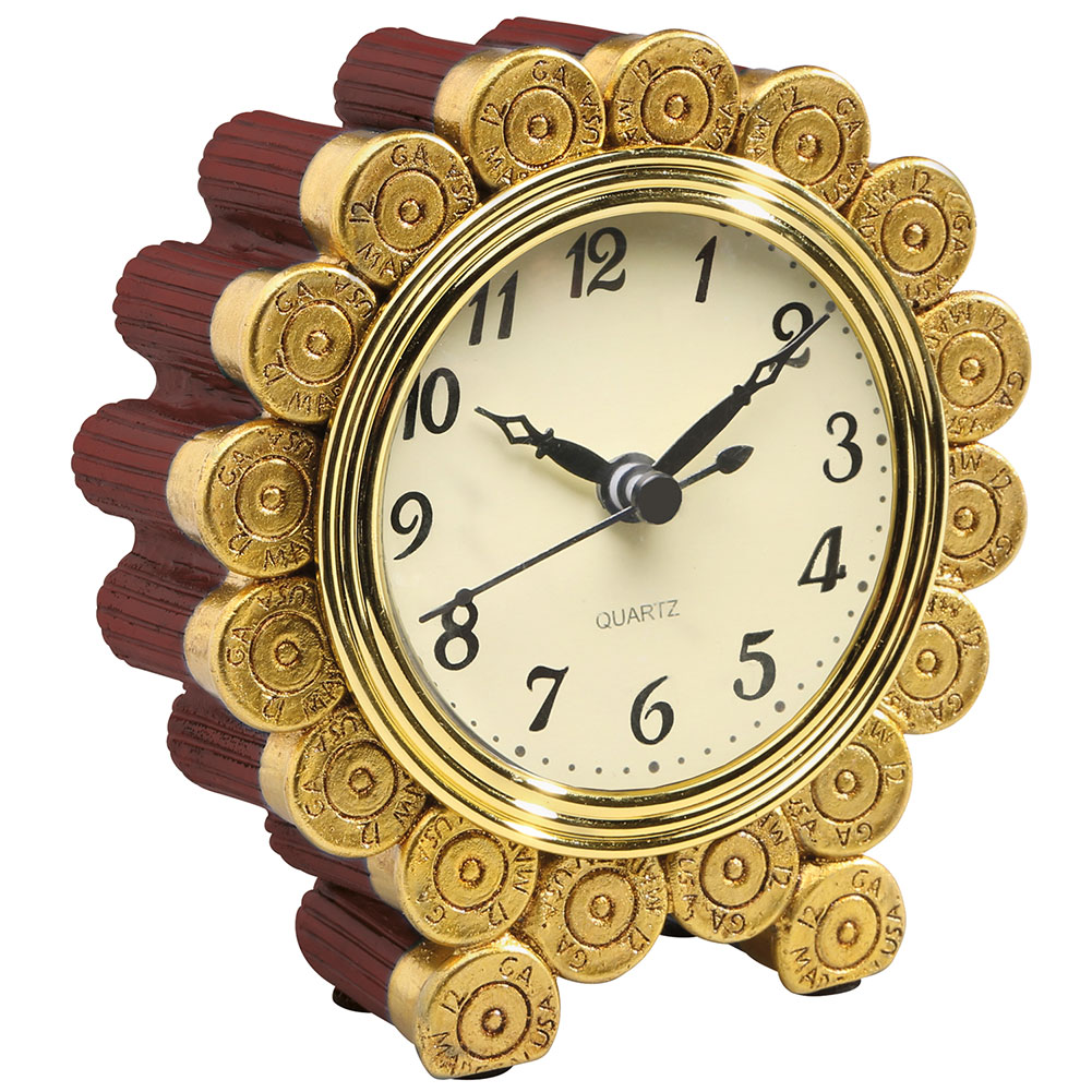 Shotgun Shell Desktop Clock - Exclusive Gift for Father's Day