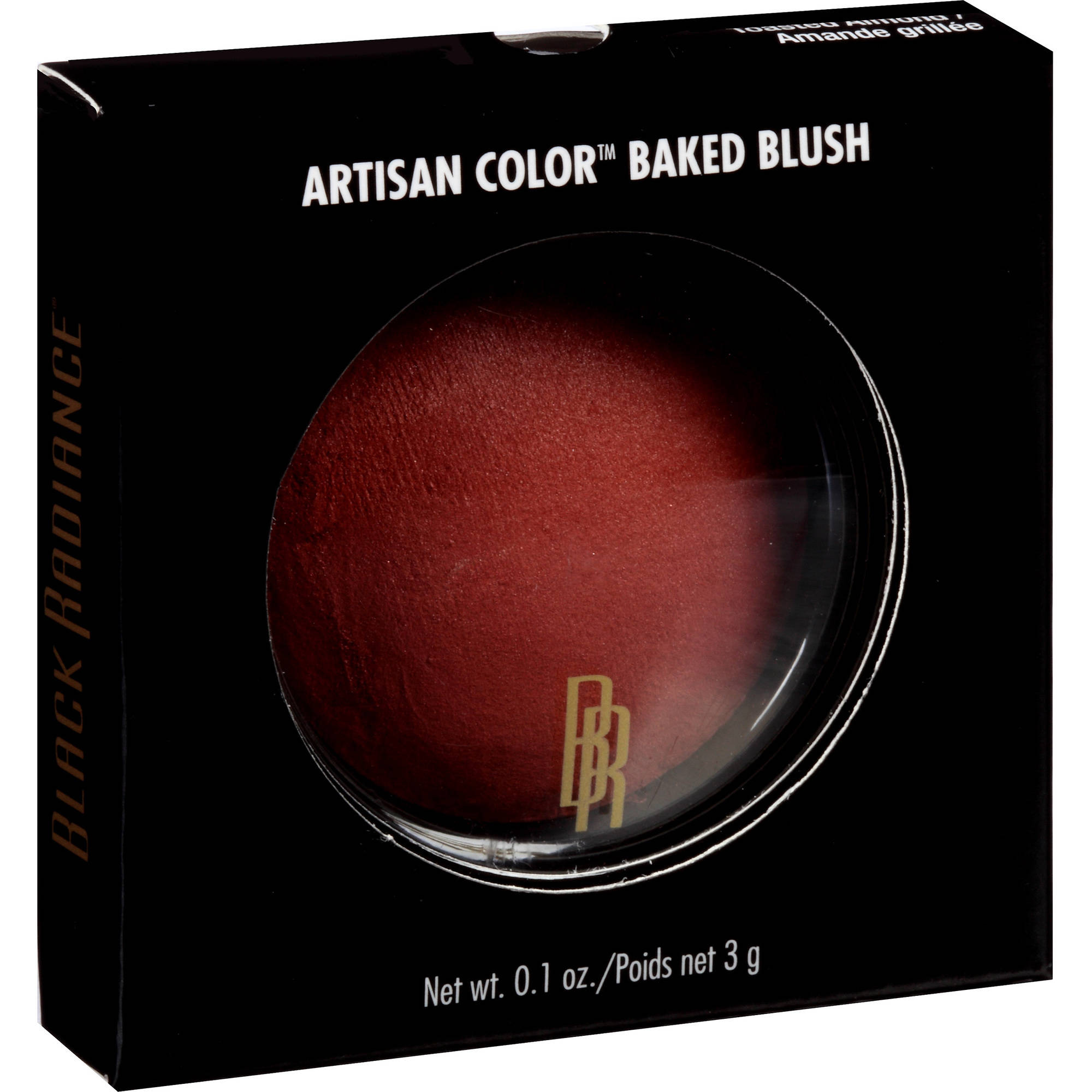 Black Radiance Artisan Color Baked Blush, Toasted Almond 8306, 0.1 oz