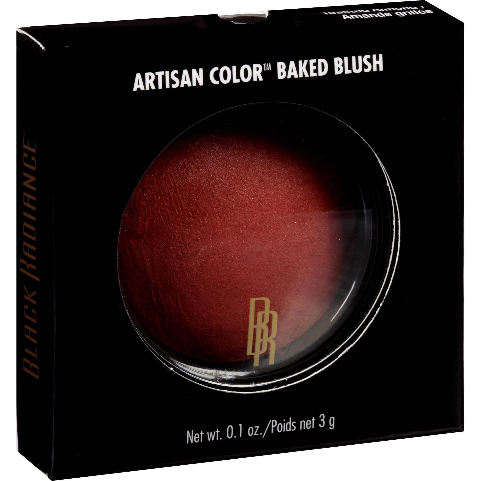 Black Radiance Artisan Color Baked Blush, Toasted Almond 8306, 0.1 oz