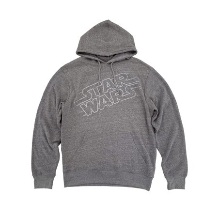 Star Wars Mens Heather Gray Pullover Hoodie Sweatshirt All Star Pullover
