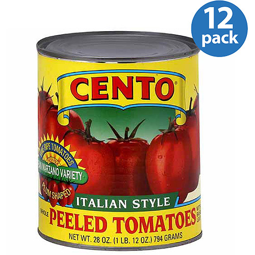 Cento A Italian Style Whole Peeled Tomatoes with Basil, 28 oz, (Pack of 12)
