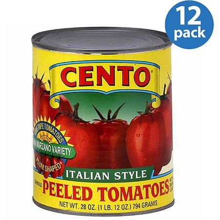 Cento A Italian Style Whole Peeled Tomatoes with Basil, 28 oz, (Pack of (Whole Basil)