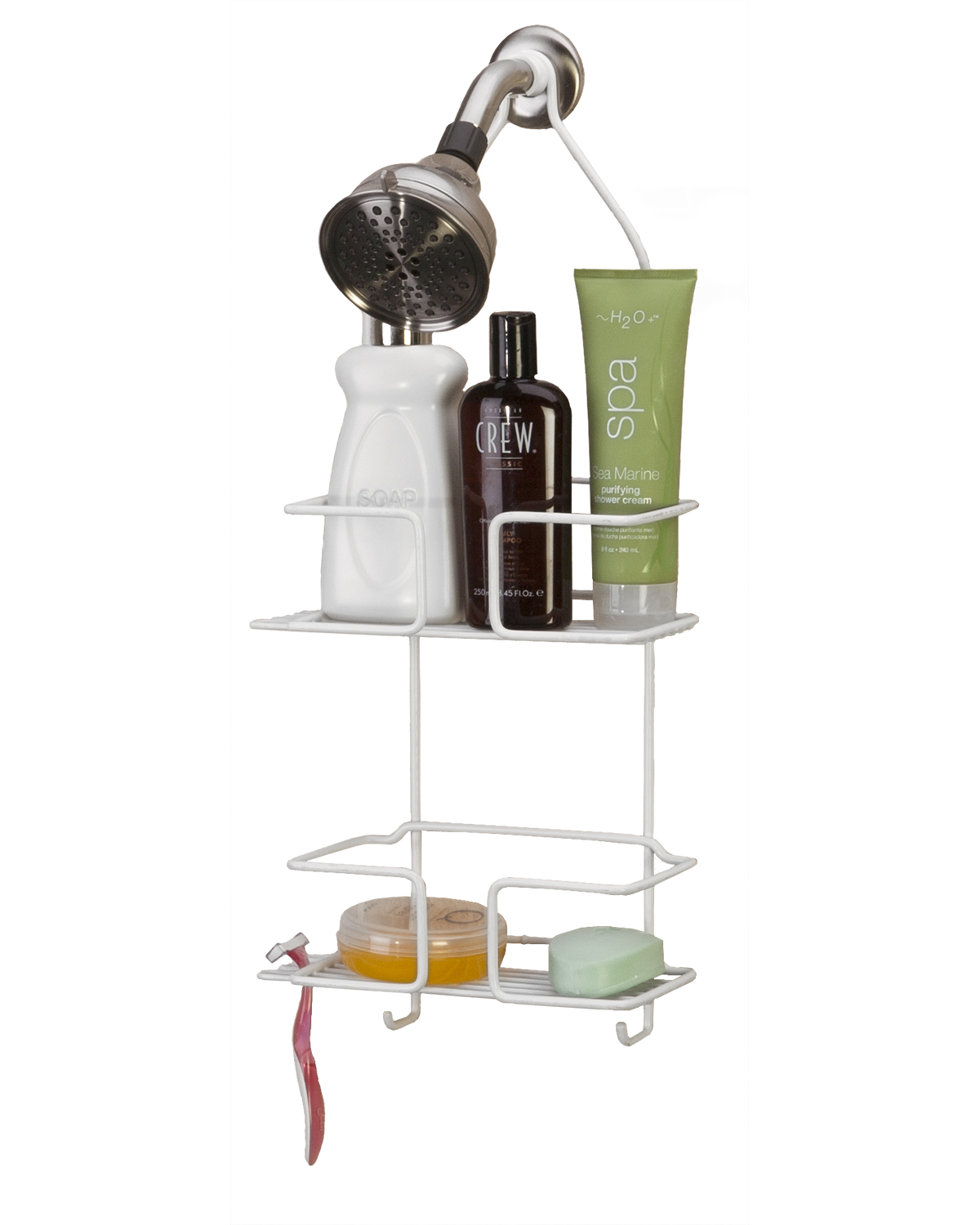 Panacea Deluxe Shower Caddy, White by Panacea
