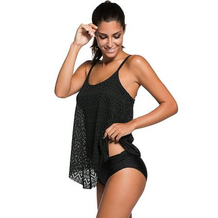 Womens Bikini-Fitibest Women Tankinis Swimsuit Two Pieces Padded Bikini Set Trendy Bikini Swimwear Fashionable Beach Bathing Suit with Adjustable Shoulder Straps