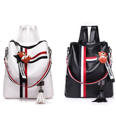 Korean Fashion Casual Dual-Use Bag Small Fresh Soft Leather Women'S Backpack - image 2 de 10