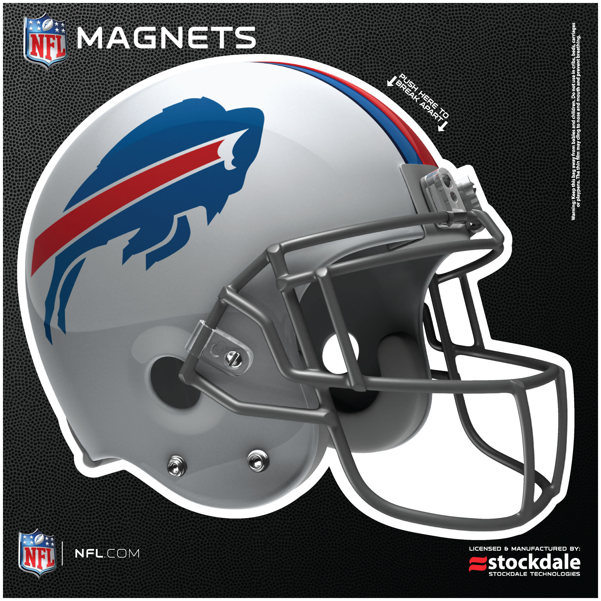 "Buffalo Bills 12"" x 12"" Helmet Car Magnet - No Size"
