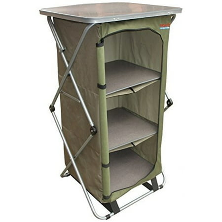 Outfitter Guides (Bushtec Adventure Sierra Canvas Camp Cupboard, camping table or outfitter cupboard, table.)