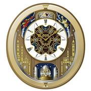 Seiko Japanese Quartz 18 HiFi Melodies Swarovski Crystals Wall Clock QXM498GRH