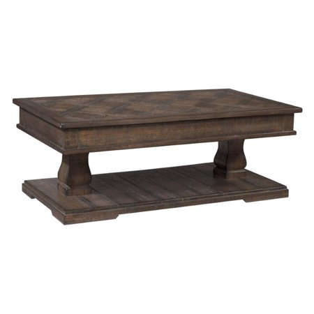 Ashley Zalarah Lift Top Coffee Table In Rustic Brown