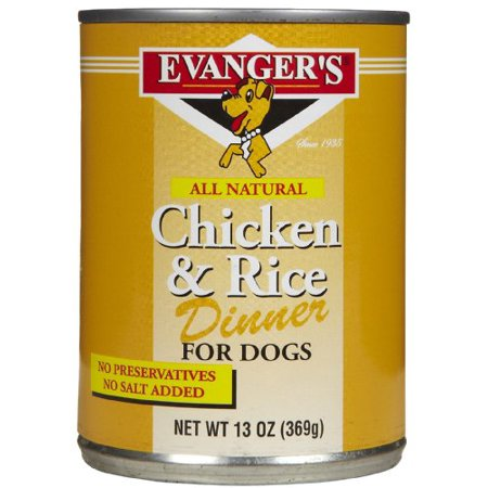 Evangers 100% Chicken - EVANGER'S Classic Chicken and Rice Dinner for Dogs, 12 pack, 13-Ounce Cans