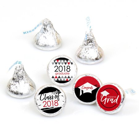 Red Grad - Best is Yet to Come - Red 2018 Graduation Party Round Candy Sticker Favors - Labels Fit Hershey's Kisses (1 - Graduation Party Favors Ideas