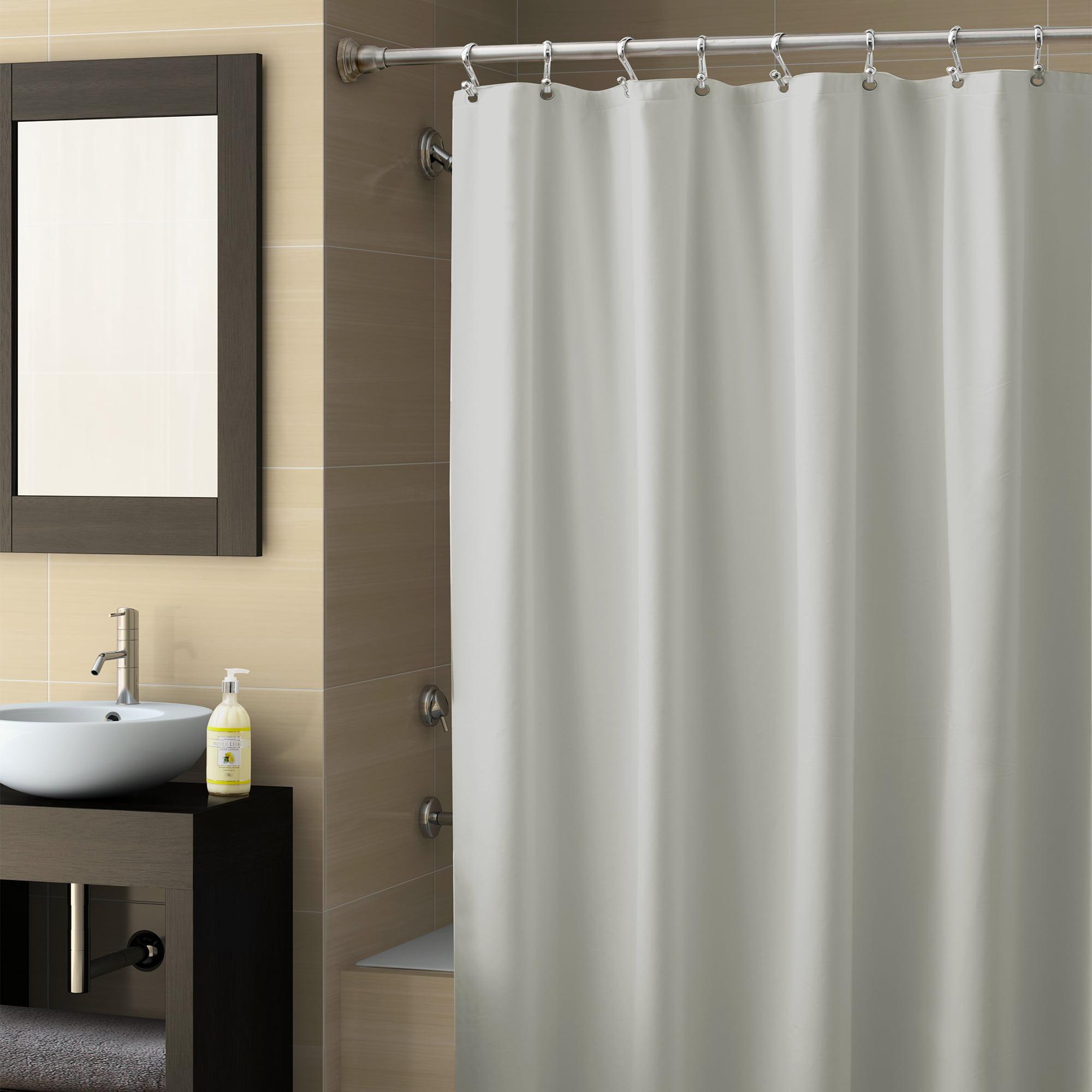 "Better Homes and Gardens PEVA Heavyweight Shower Liner Grey 70"" x 72"""