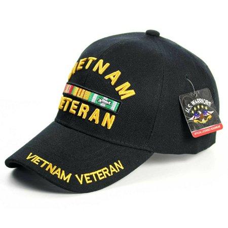 US Military Cap VIETNAM VETERAN Hat Baseball Ball Purple Heart Infantry Army USA (7mc010_Vietnam Veteran Gold Medal)