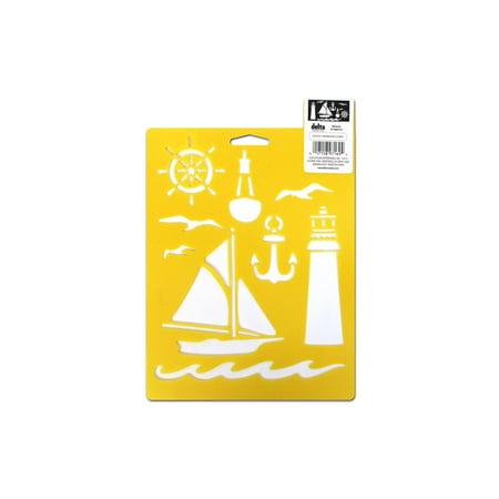 Delta Stencil Mania 7x10 Nautical