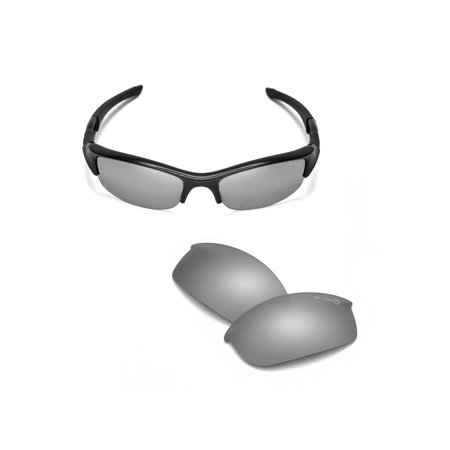 1b16d2ef1e Walleva - Walleva Titanium Mr. Shield Polarized Replacement Lenses for Oakley  Flak Jacket Sunglasses - Walmart.com