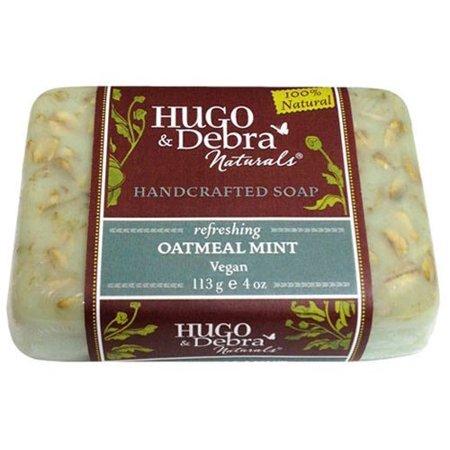 Hugo Naturals Handcrafted Soap Oatmeal Mint -- 4 oz by Hugo Naturals