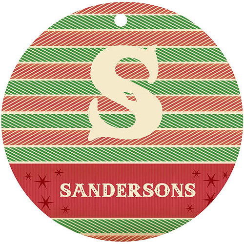 Holiday Herringbone Personalized Christmas Ornament