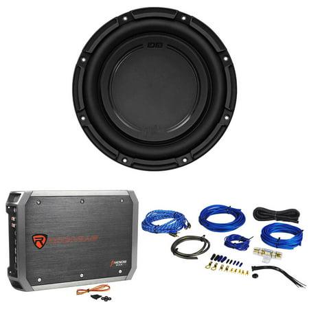 "Polk Audio DB1042SVC 10"" 4-Ohm 1050 Watt Car Audio Subwoofer+Amplifier+Amp Kit ()"