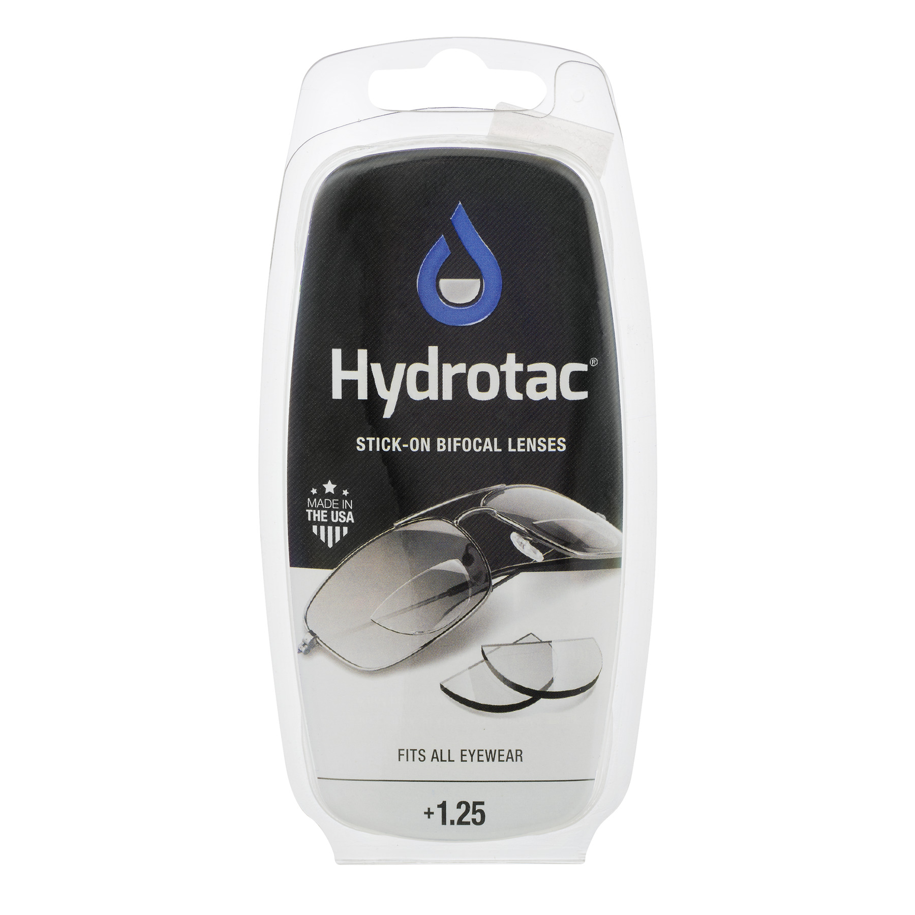 Hydrotac Stick-on Bifocal Lenses, 1.25
