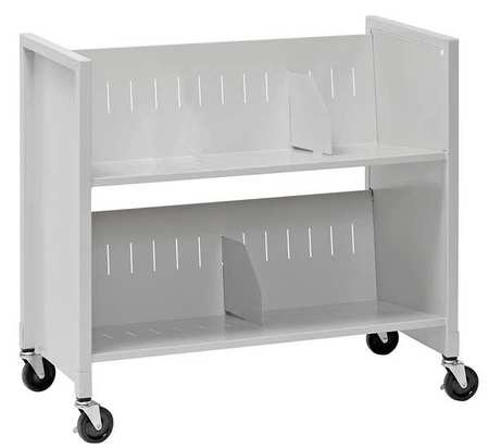 Slant Medical Cart,Nonlocking,Steel,Slvr BUDDY PRODUCTS 5422-32